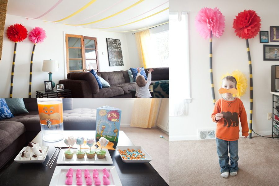 The Lorax Party With Images Lorax Party Lorax Birthday The Lorax