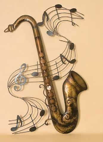 Metal Saxophone Wall Art. | Theatre Decor | Pinterest | Saxophones ...