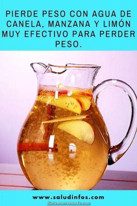 Desmontar De Peso Con Agua De Canela Manzana Y Limonada Muy
