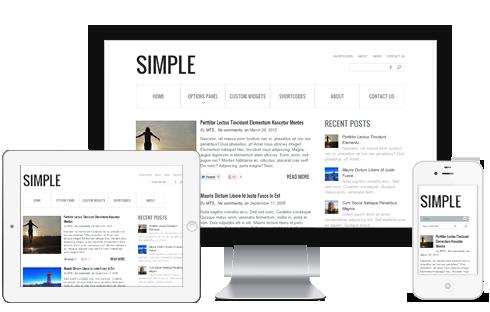 10+ Simple WordPress Theme With Responsive Design. | WordPress ...