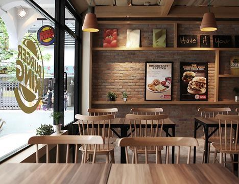 Burger King In Singapore With Images Restaurant Interior