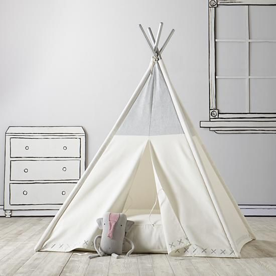 A Teepee to Call Your Own (Silver Metallic)  | The Land of Nod