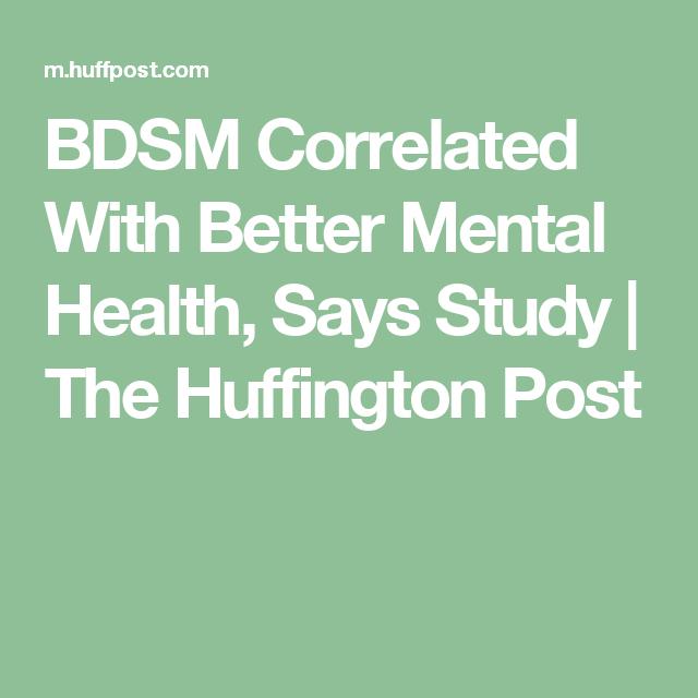 You inquisitive bdsm mental health have