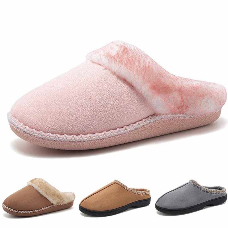 Home Slippers Lover Heart-Shaped Women SlippersWarm Cotton Shoes on-Slip Waterproof Flats Indoor Shoes