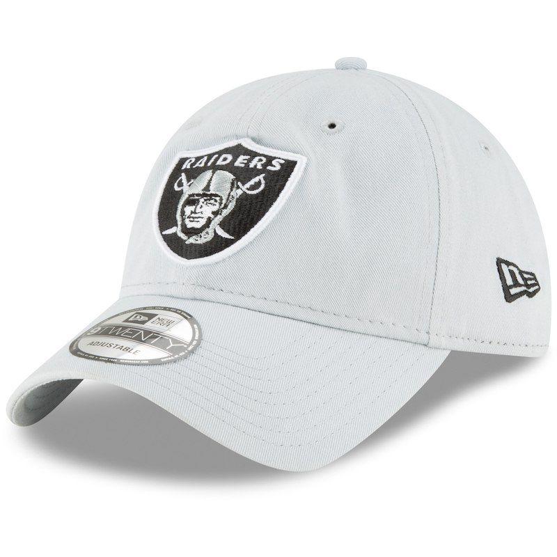 e1917878ca2872 Oakland Raiders New Era Core Classic Secondary 9TWENTY Adjustable Hat - Gray