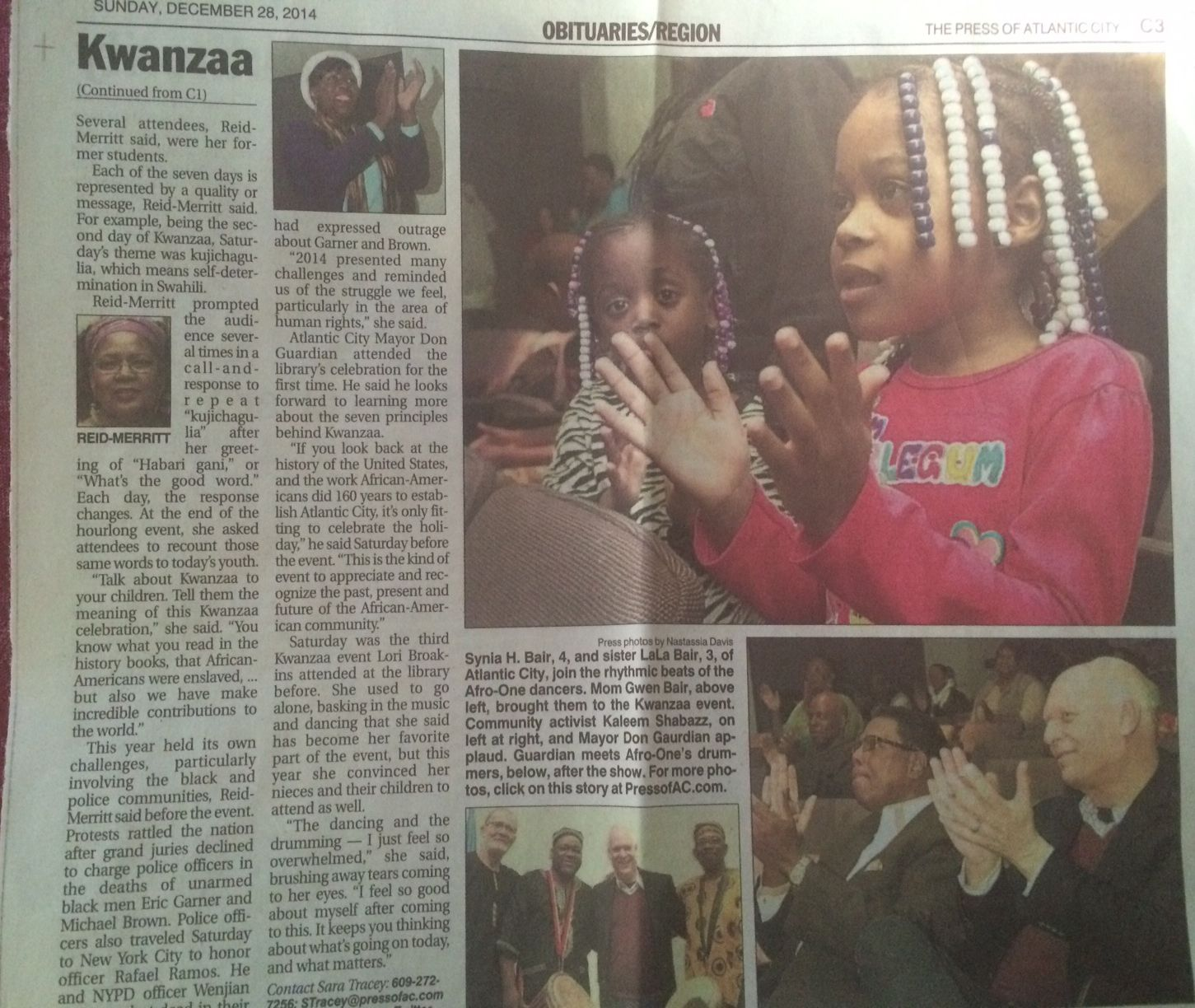 Press Of Atlantic City De 2014 Kwanzaa Celebration Atlantic City Kwanzaa Attendee