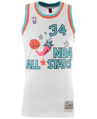 save off 38ed7 2b00c Mitchell & Ness Men Hakeem Olajuwon Nba All Star 1996 ...