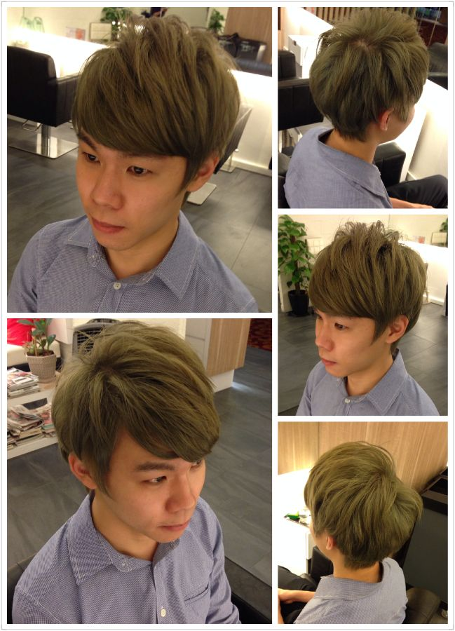 Our 2nd timer with us, Edwin who work in a lawyer firm requested a light matt tone with a good hair trim. We simply adored the colour he had now!