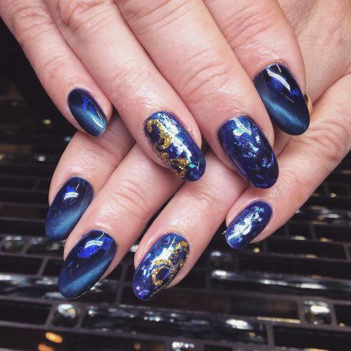 Karin efterfrågade blått med guld! ❤️ by offmind http://ift.tt/1NHZX2i