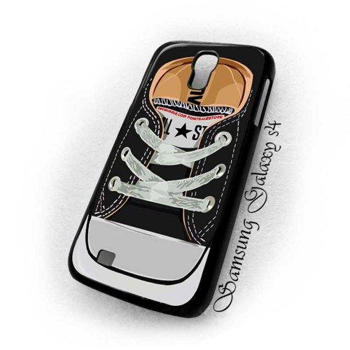 Converse Black Casual Shoes Samsung Galaxy s4 i9500 case $16.89