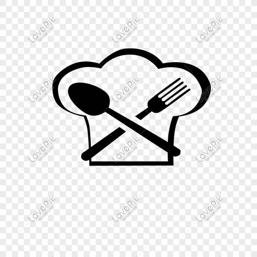 Vektor Sendok Garpu Logo Restoran Topi Koki Pemasaran Media Sosial Garpu Kartu
