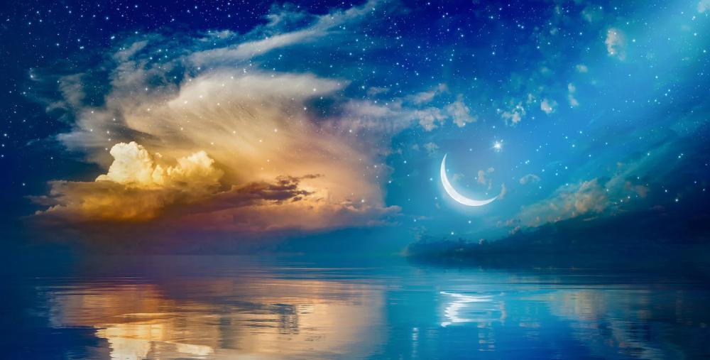 La Leyenda De Amor De La Luna Y El Sol Alicia Galvan En 2020 Arte En Lienzo Para Las Paredes Cielo Nocturno Leyendas