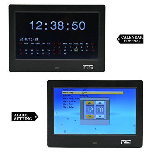 fding 7 inch digital photo frame 169 led display 1024x600 hi resolution - Electronic Frame