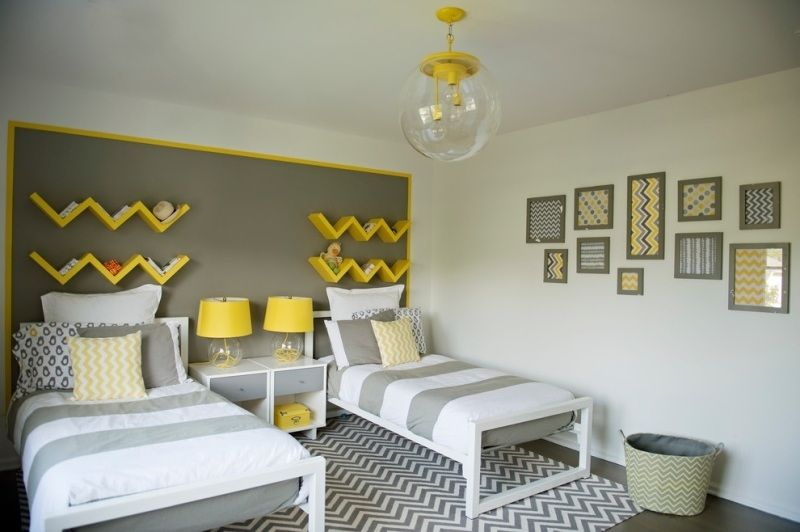 Beautiful Chambre Ado Jaune Et Blanc Pictures - lalawgroup.us ...