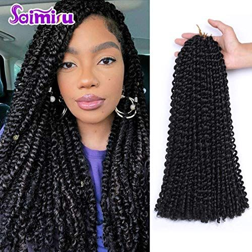 Buy Passion Twist Hair 18inch Long Bohemian Curly Water Wave Crochet Braids Natural Hair Extension(18, 1B) online - Topniftytrendy #passiontwistshairstylelong
