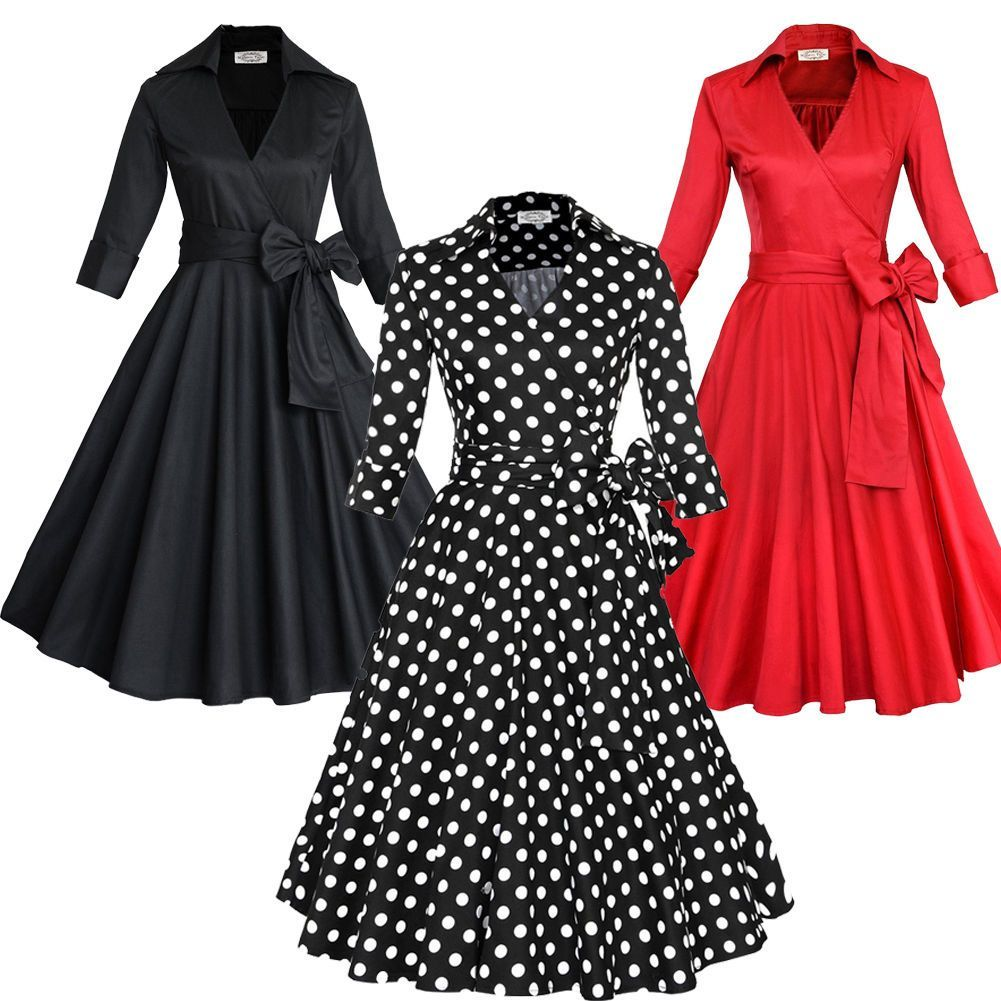 Womens vintage style s s rockabilly swing pinup housewife party