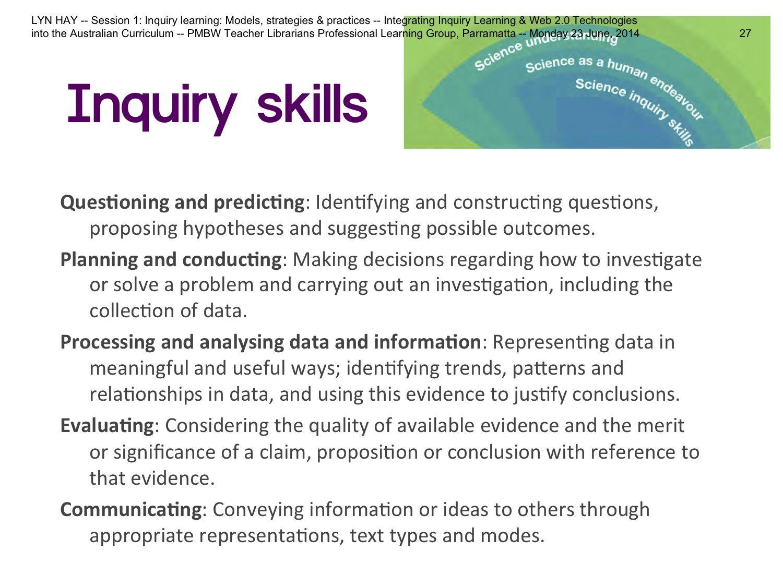 Inquiry Skills