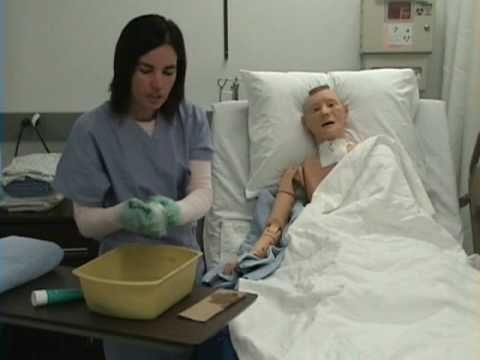 Giving A Patient A Bed Bath Caring For The Elderly Or