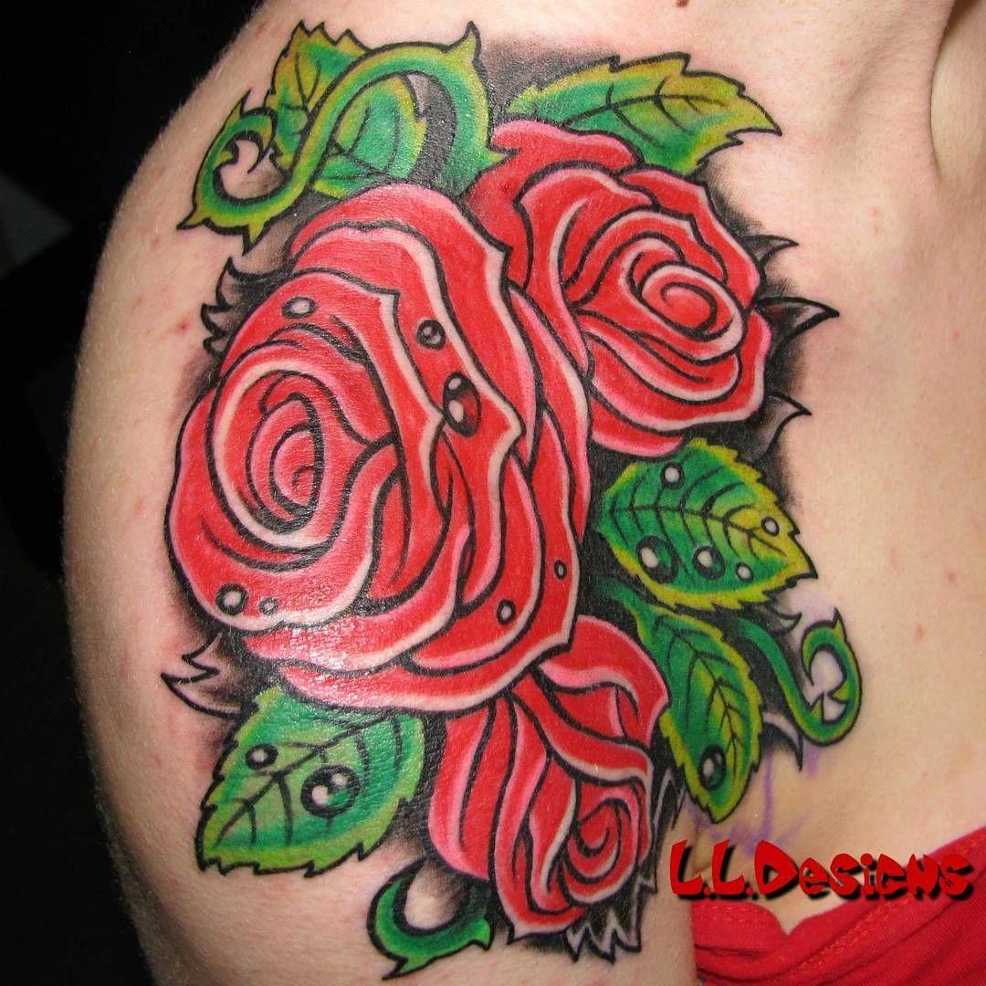 "Laurent Lajeunesse Tattoo Art on Instagram ""Roses tattoo"