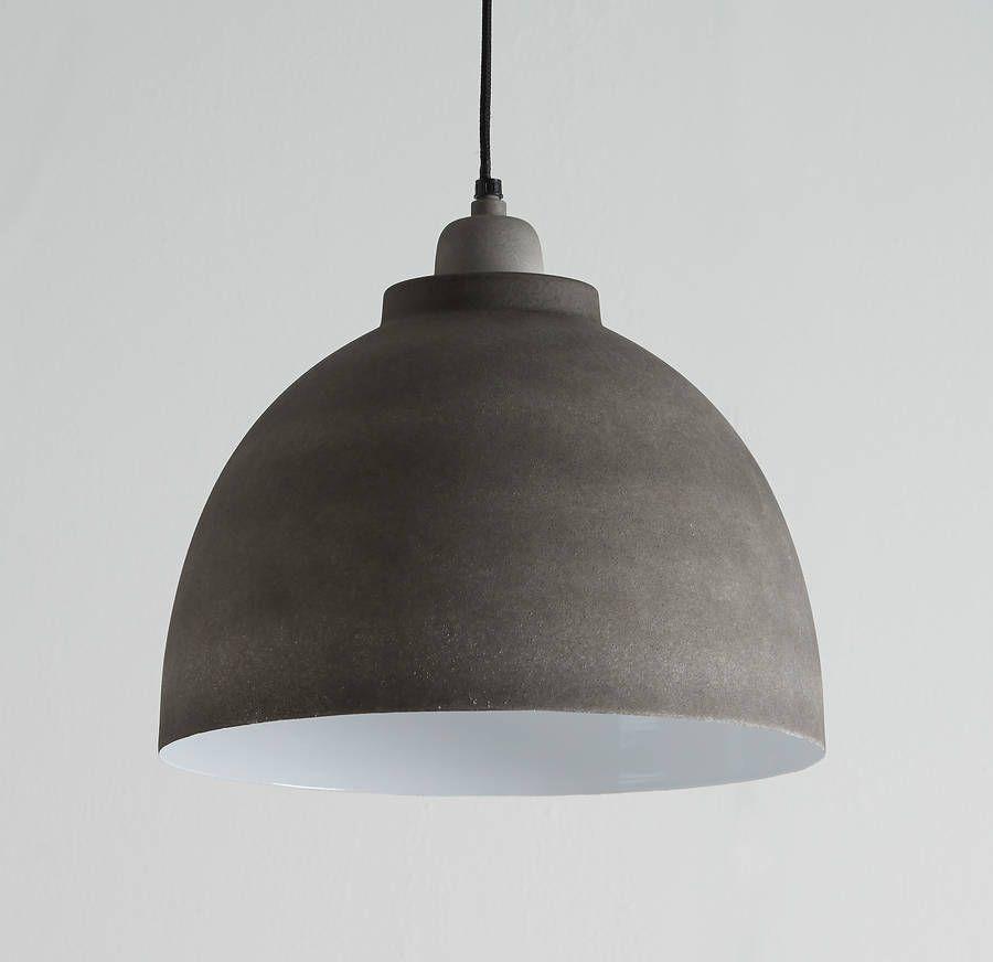 Cement Grey Pendant Light