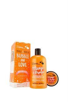 Coffret Bubble and love<br>Mangue et papaye - 500 ml et 50 ml