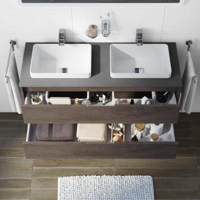 Mobile Bagno Loto Rovere Scuro L 120 Cm New Home Bathroom