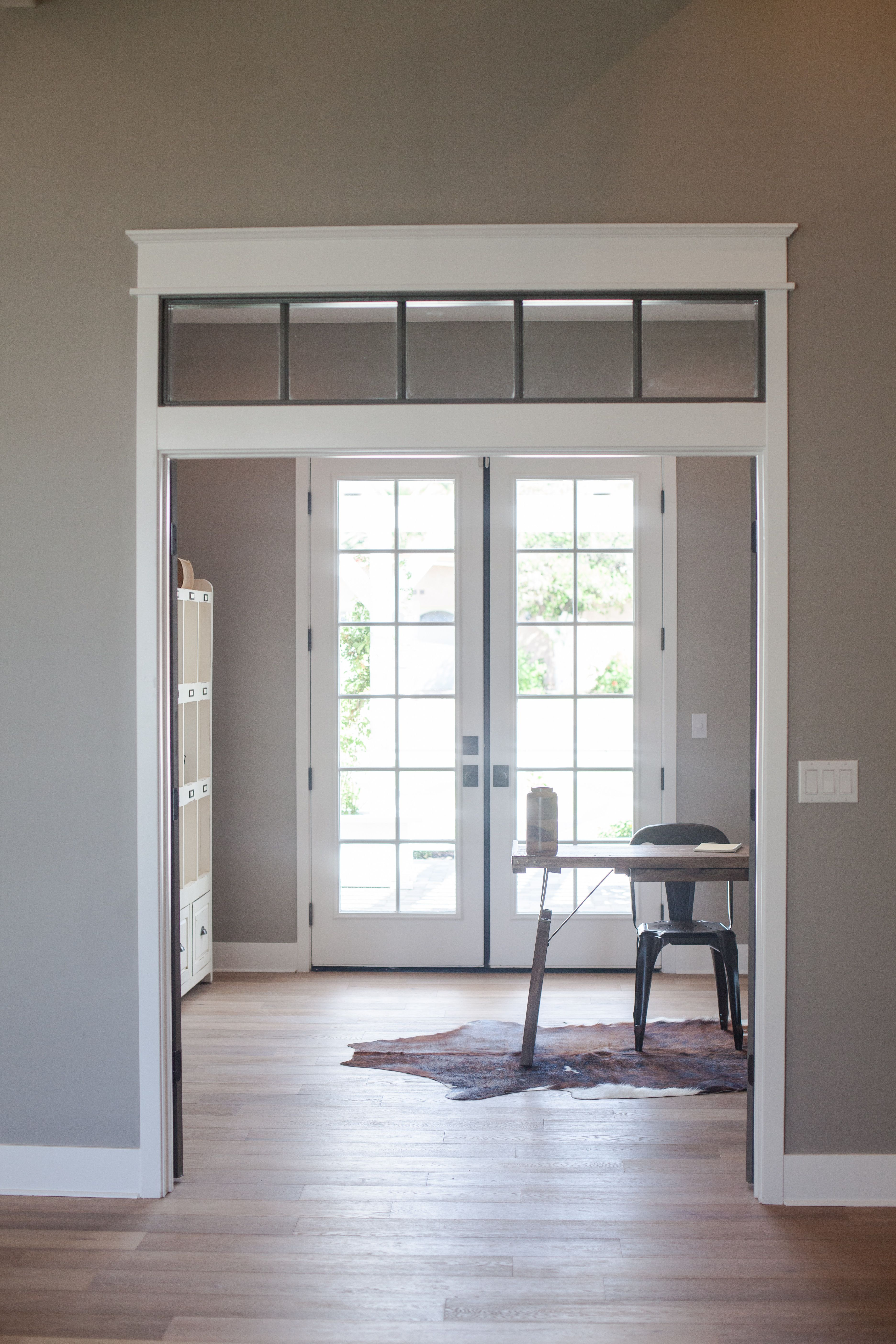 Doorway With Craftsman Trim And Transom Window Entry By