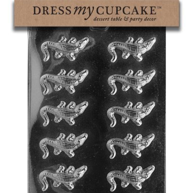 Dress my cupcake chocolate candy mold small alligators