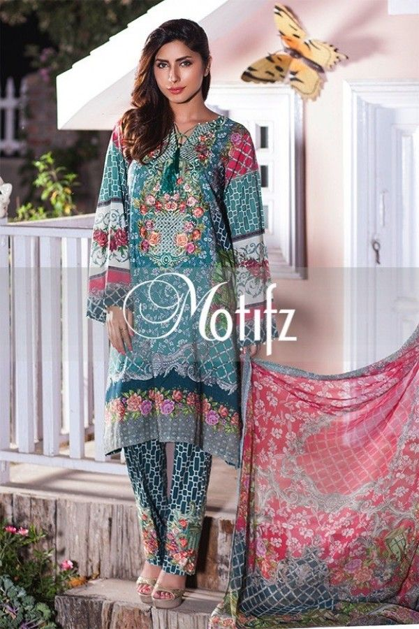 14b1c842e7 Item Type: UN Stitched Three Piece, Shirt Fabric: Digital Printed Lawn,  Includes: Front, Back, Sleeves, Embroidered Patches, Crinkle Chiffon  Digital Printed ...