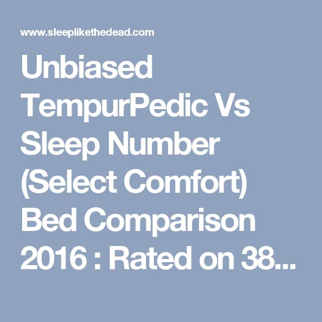 Unbiased Tempurpedic Vs Sleep Number Select Comfort Bed Comparison 2016 Rated On 38 Criteria Choice Air Mattres Select Comfort Bed Comforters Tempurpedic