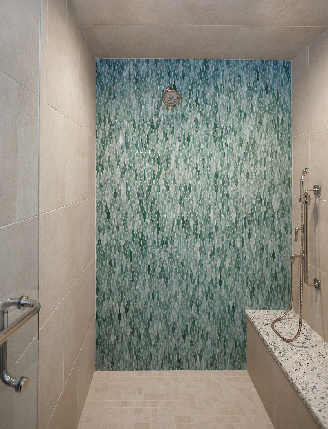 Waterfall Showers Designs Amanda Webster Design Nautical Beach Condo Interior