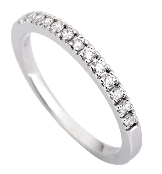 0 20ct Traditional Bridal 14k White Gold Wedding Band With Etsy Diamond Wedding Bands 14k White Gold Wedding Band Diamond Wedding Rings Women