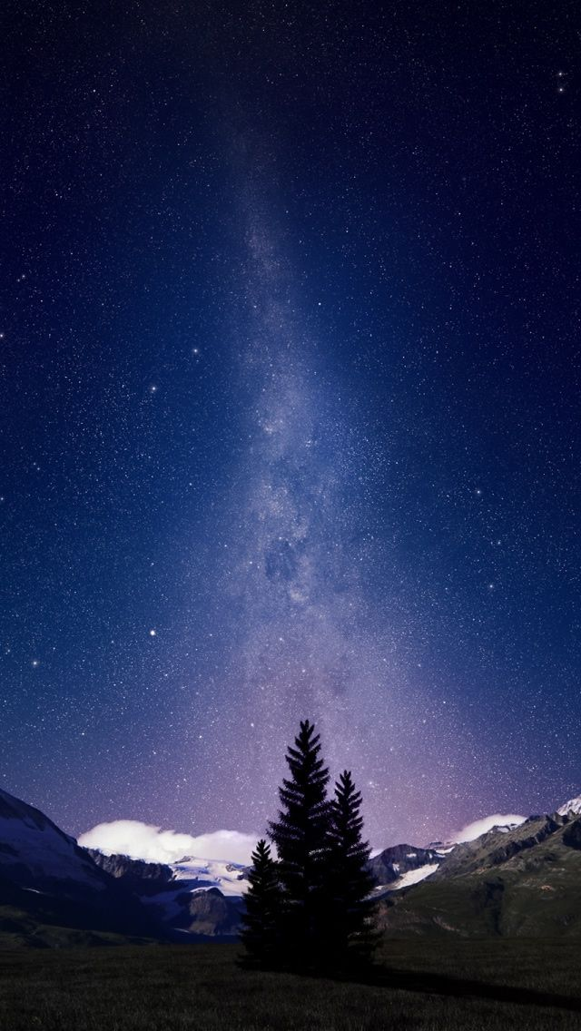 Swiss Alps Night Sky Iphone 5s Wallpaper Download Iphone Wallpapers Ipad Wallpapers One Stop Download Night Skies Landscape Wallpaper Sky