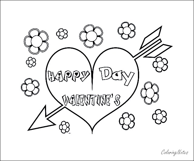 Happy Valentines Day Coloring Pages Free And Easy Valentines Day Coloring Page Valentines Day Coloring Valentine Coloring Pages