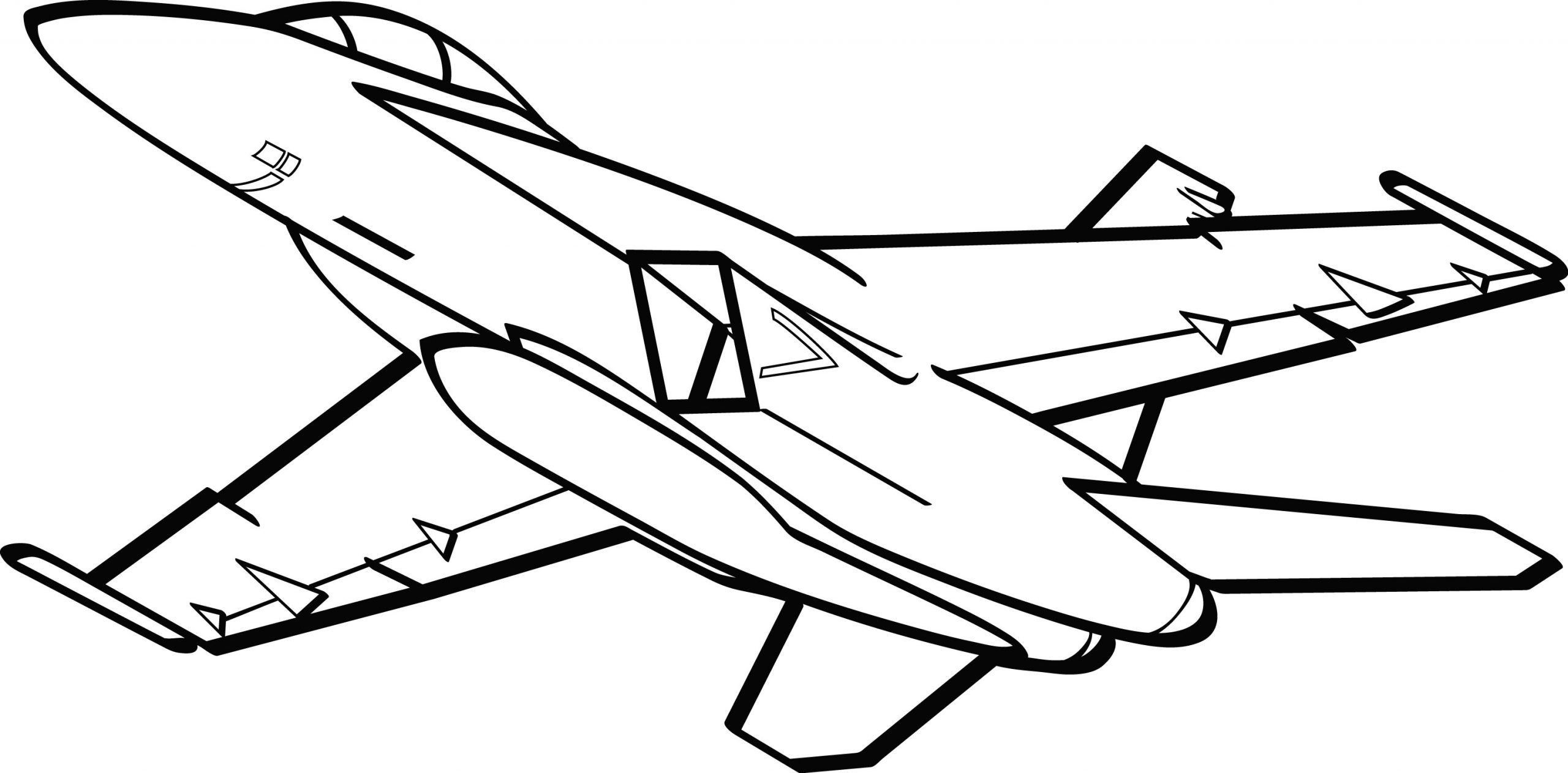 military airplane coloring pages in 2020 Airplane