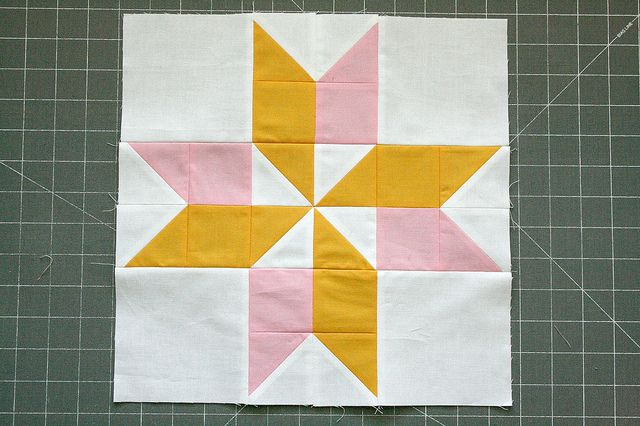 Two Colors Star by QuiltsByEmily, via Flickr