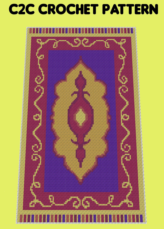 Shimmer & Shine Magic Carpet Inspired C2C Crochet Pattern