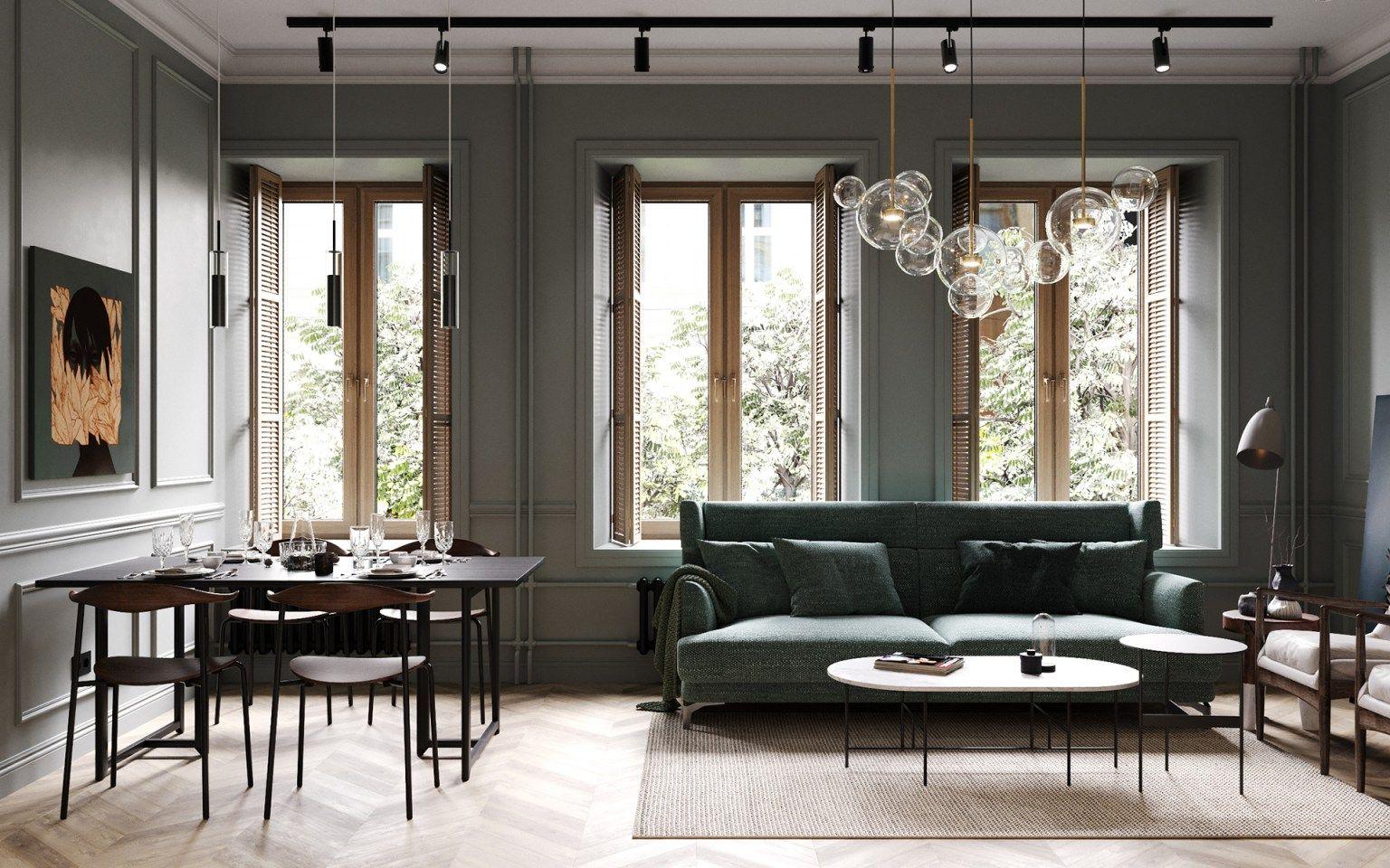 Un appartement classique chic par Cartelle Design  Idee deco