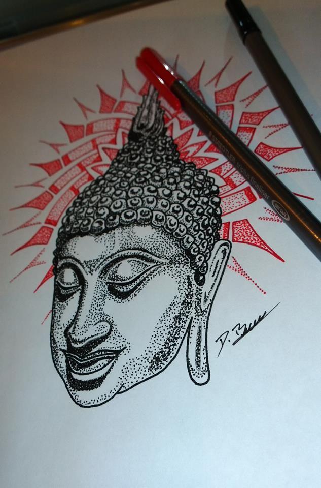 Buddha dotwork tattoo design | Vintage Soul Tattoo ...