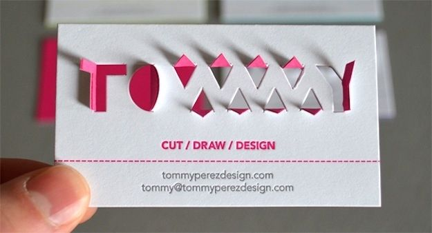 """39 Most Tantalizing Business Cards This designer's card epitomizes """"Show, don't tell."""""""