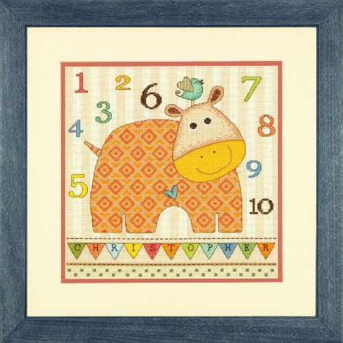 Dimensions Crafts Counted Cross Stitch Kit, Baby Hippo 123 Dimensions Crafts http://www.amazon.com/dp/B00FRH235Q/ref=cm_sw_r_pi_dp_OTr6tb1N575BB