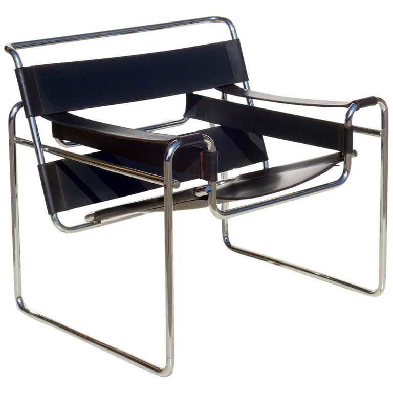 Wassily Marcel Breuer By Gavina Bauhaus Design 1960s Black