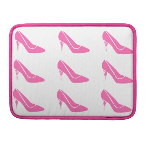 8aee6289e735 Pink Princess High Heel Shoes MacBook Pro Sleeve-- Apple  MacBook  shoes   fashion  pink  stilettos  princess  Zazzle