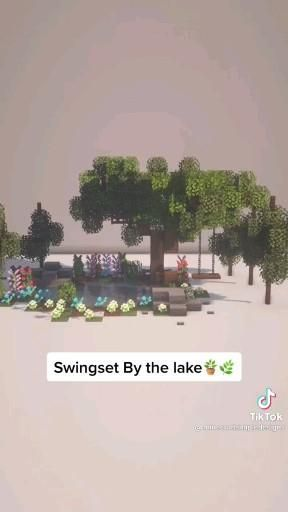swingset by the lake [Video] in 2021 | Minecraft c