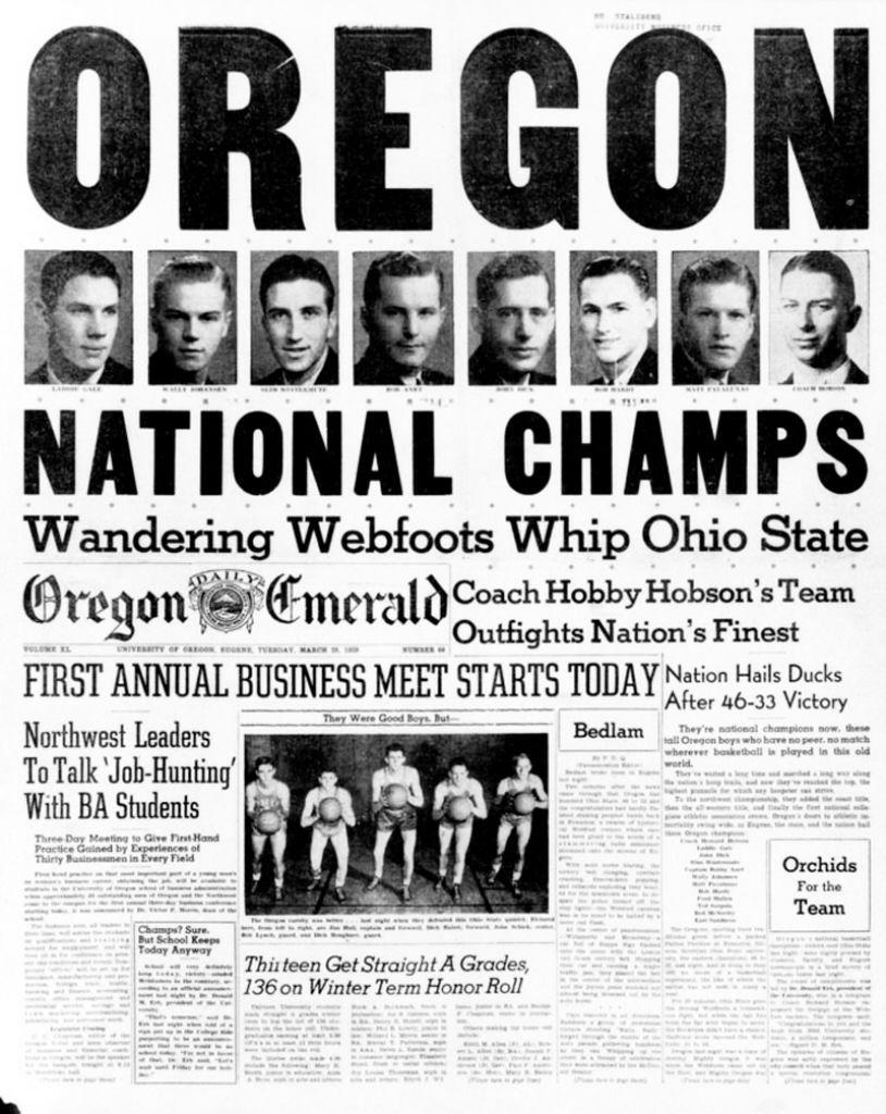 The Tall Firs (1939 NCAA Basketball Champions) Ohio