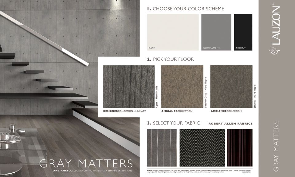 This Inspiration Board Created By A Lauzon Stylist Features Linear And  Uniform Hard Maple Hardwood Flooring