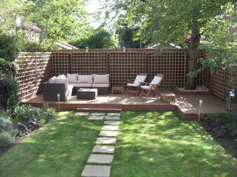 jardines pequeños y patios de diseño moderno   jardin   pinterest