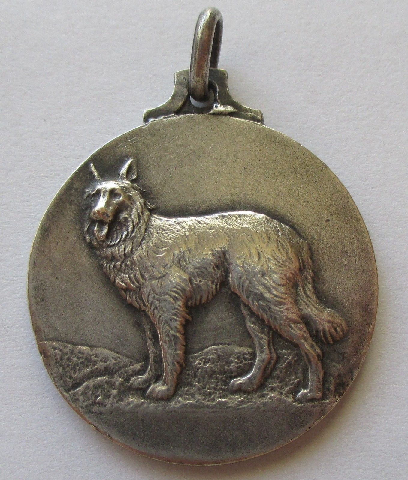 Antique Silver Plated Dog Medal Jewelry Bracelets Silver Dog
