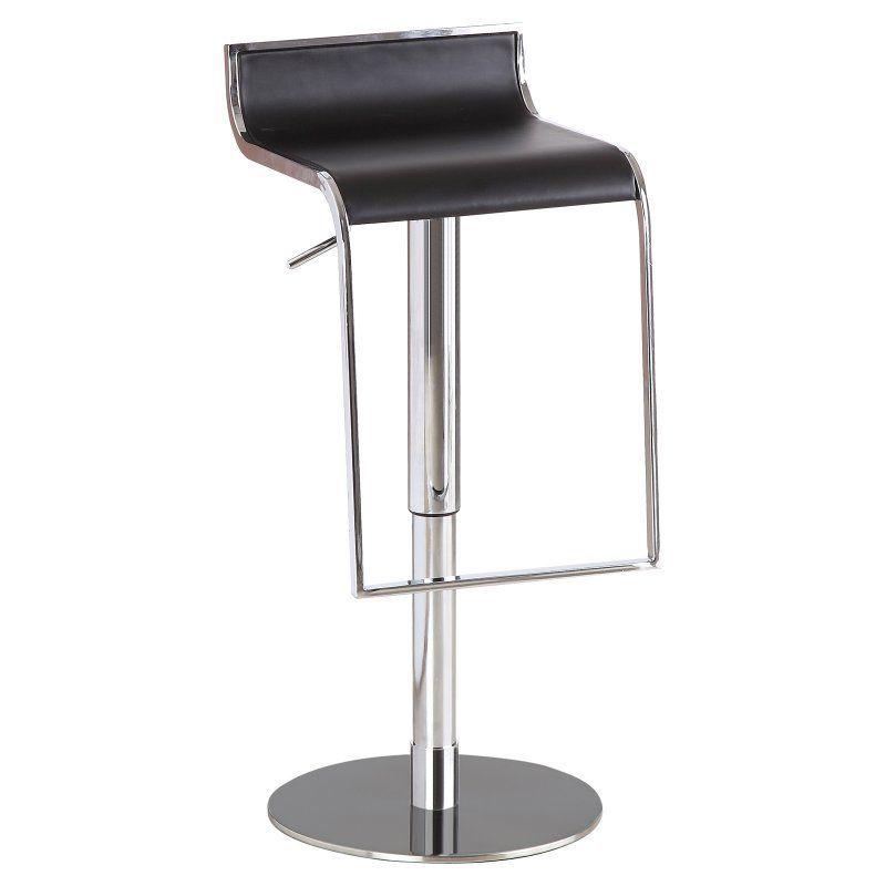 J&M Furniture C027B-3 Adjustable Bar Stool Black - 17730-BK