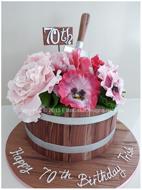 Image Result For Flower Pot Cakes 70th Birthday Cake Flower Pot